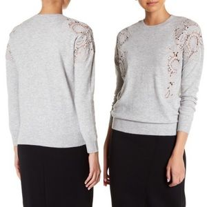 TED BAKER Tae Lace-Cutout Sweater (Grey)